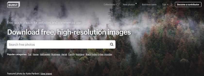 Lizenzfreie Bilder kostenlos - burst website