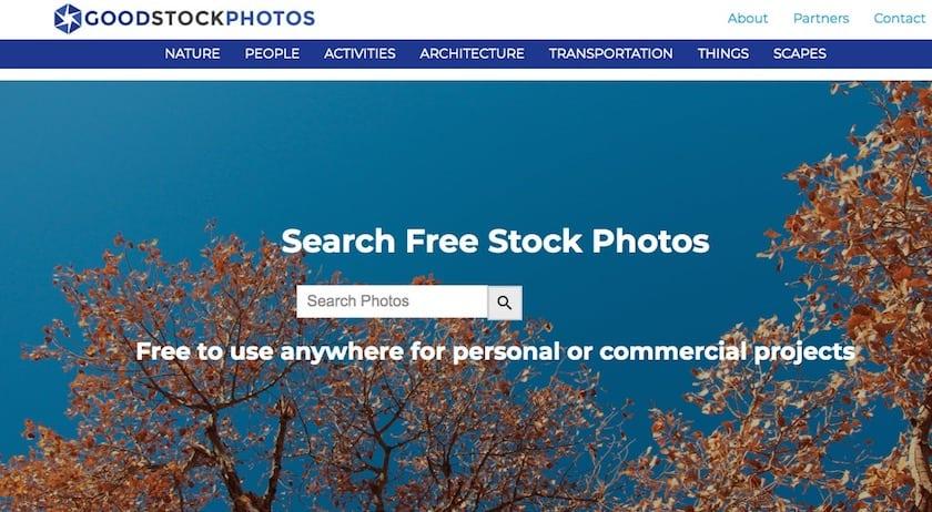 Lizenzfreie Bilder kostenlos - goodstockphotos website