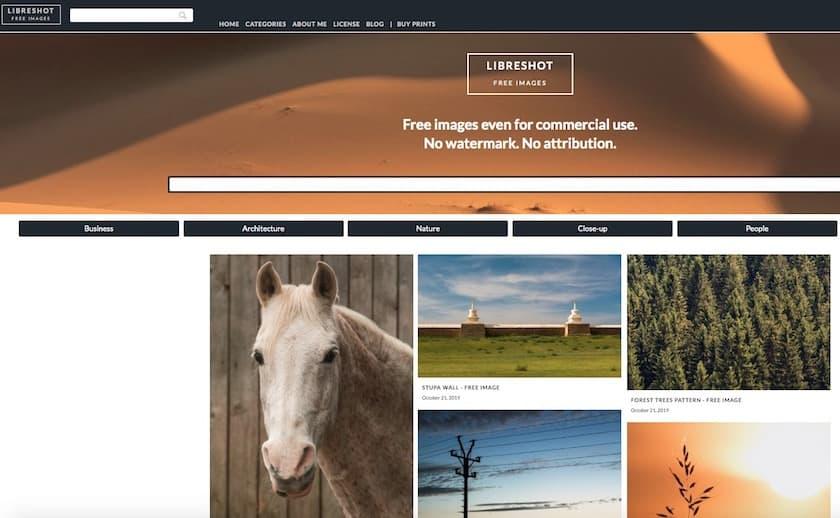 Lizenzfreie Bilder kostenlos - libreshot website