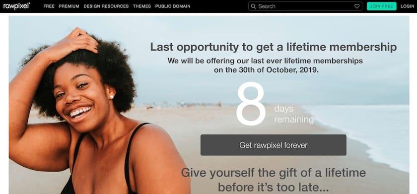 Lizenzfreie Bilder kostenlos - rawpixel website