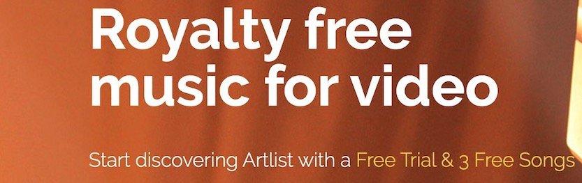 Musik für Videos - fotoskaufen artlist 3 gratissongs