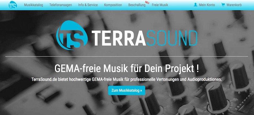 Webseite TerraSound