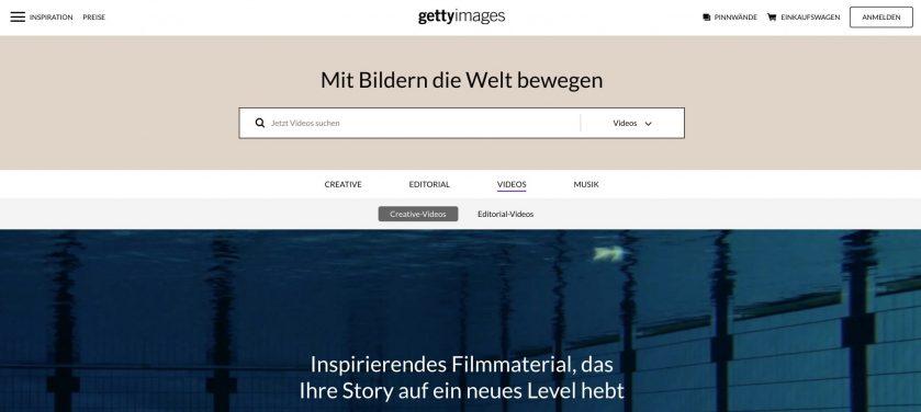 Videoangebot von Getty Images